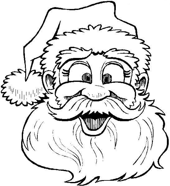 Desenhos de Papai Noel Para Pintar, Colorir e Imprimir