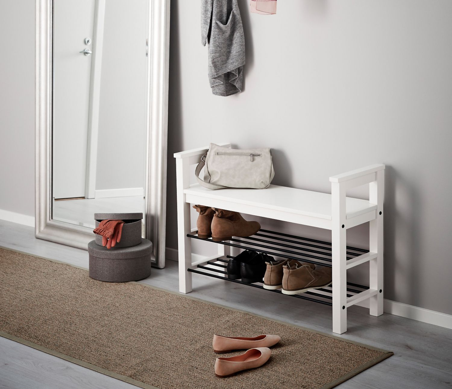 Schaukasten Holz Ikea Ikea Hemnes Bench With Shoe Storage Shoe Rack Shelf White Solid
