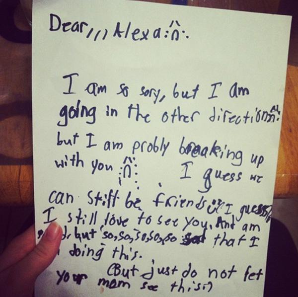 Hilarious Breakup Letters Written By Kids - Gallery eBaum\u0027s World