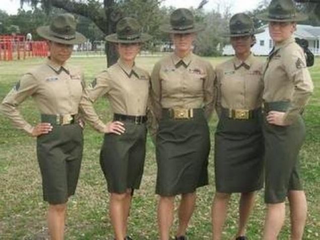 Marine Poolees Get Smoked By Female Drill Instructor At Annual Pool