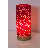 Round Flat Base Table Lamp ~ 15cm x 30cm Shade