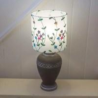 Ceramic Urn - Charcoal Table Lamp ~ 25cm x 25cm Drum Lamp ...