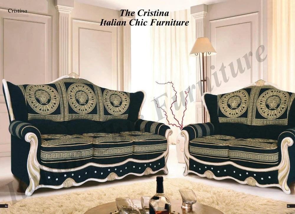 Versace Sofa Set Versace Couch Italian Leather Sofa