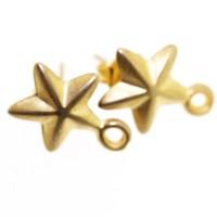 Gold Star Earring Fitting