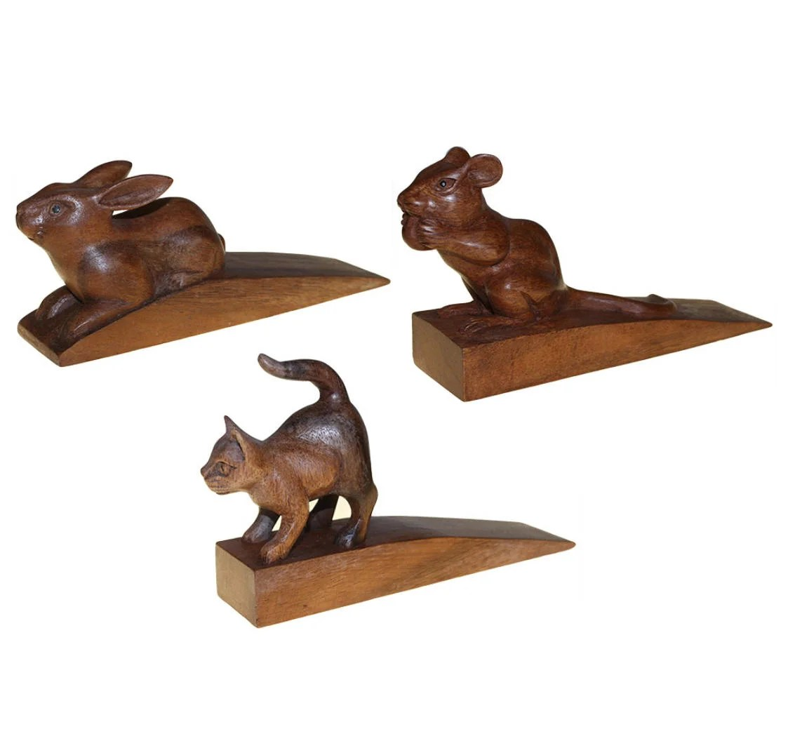 Animal Door Stops Uk Hand Carved Wooden Animal Door Stop