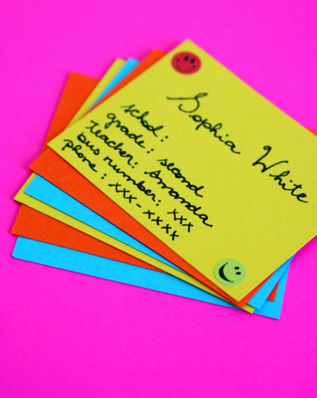 Make Back to School Business Cards! Activity Education