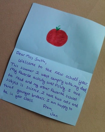 Letter to Your Teacher Activity Education - Letter To A Teacher