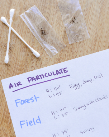 Counting Air Particulate Matter Science project Education