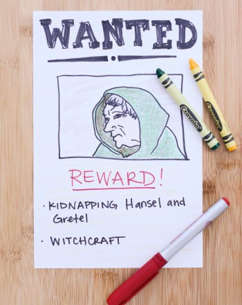 Wanted Poster Activity Education