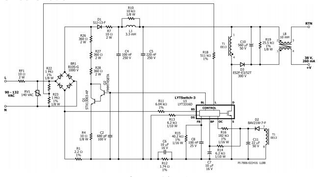 dimmable led power supply schematic