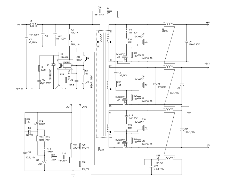 power source and boost converter input for short circuit protection