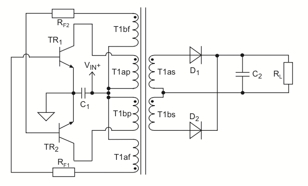 dc to dc converter using push pull topology