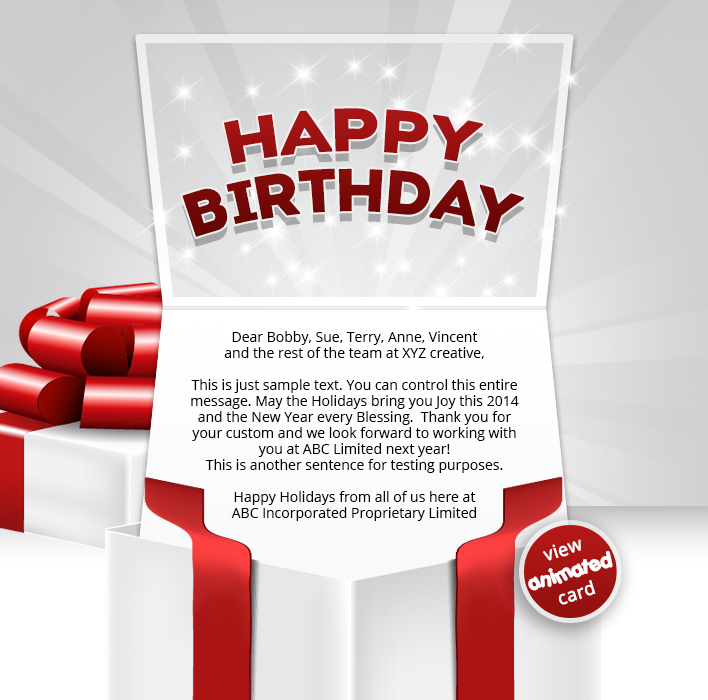 Corporate Birthday eCards Employees  Clients Happy Birthday Cards