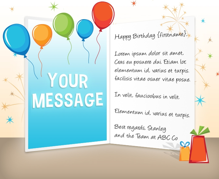 Corporate Birthday eCards Employees  Clients Happy Birthday Cards - Birthday Card Sample