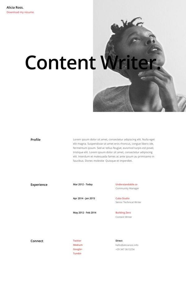 Free Divi Download Resume Pages Layout Pack Elegant Themes Blog - download resume