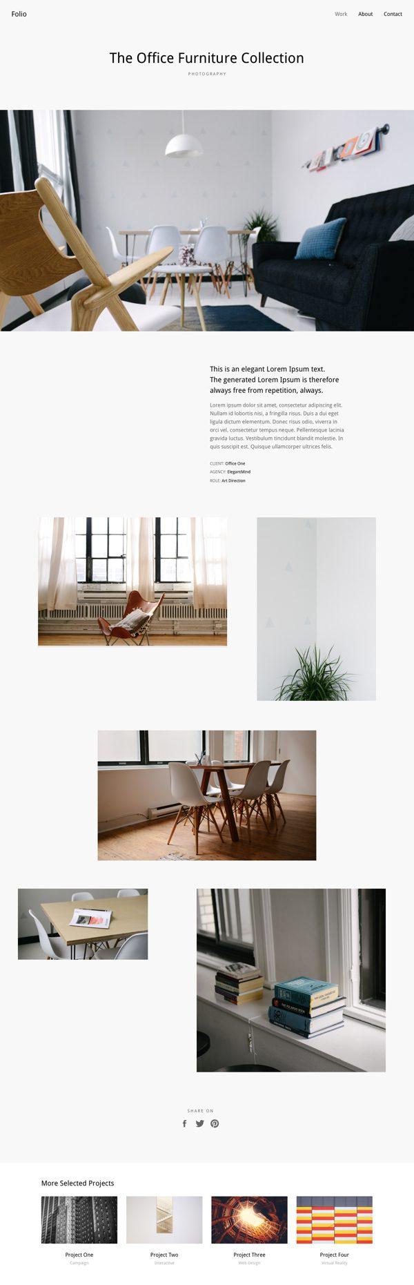 simple portfolio layout