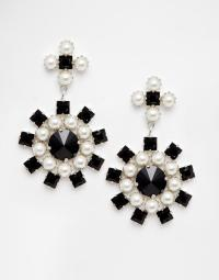 Swarovski Crystal And Pearl Statement Drop Earrings | Endource