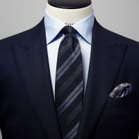 Blue & Grey Striped Tie | Eton Shirts Norway