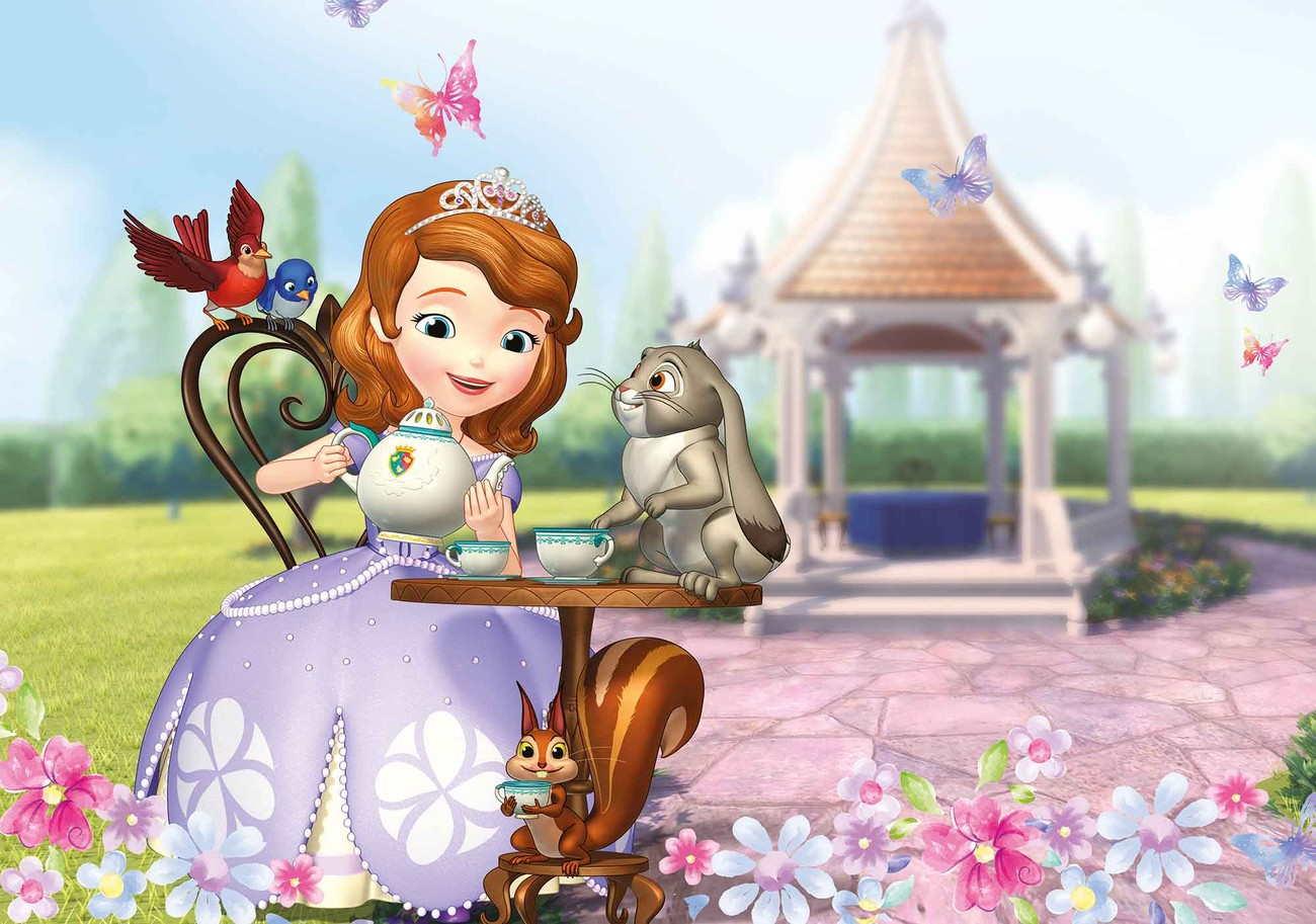 Kids Animal Wallpaper Disney Sofia First Wall Paper Mural Buy At Europosters