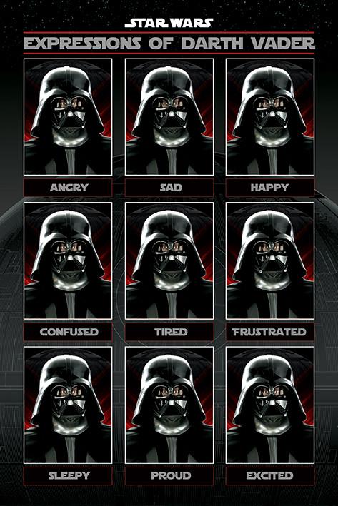 Wallpaper Geek Girl Star Wars Expressions Of Darth Vader Poster Sold At