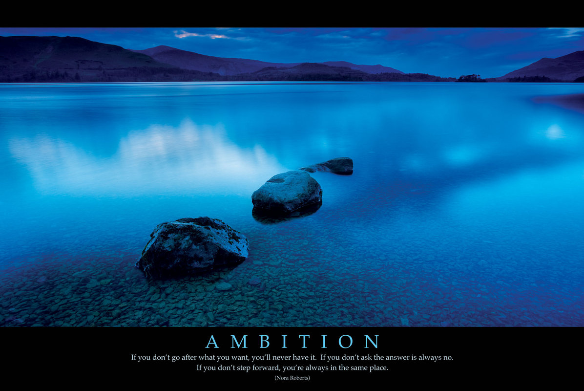 Zen Quote Wallpaper Ambition New Poster Poster Sold At Ukposters