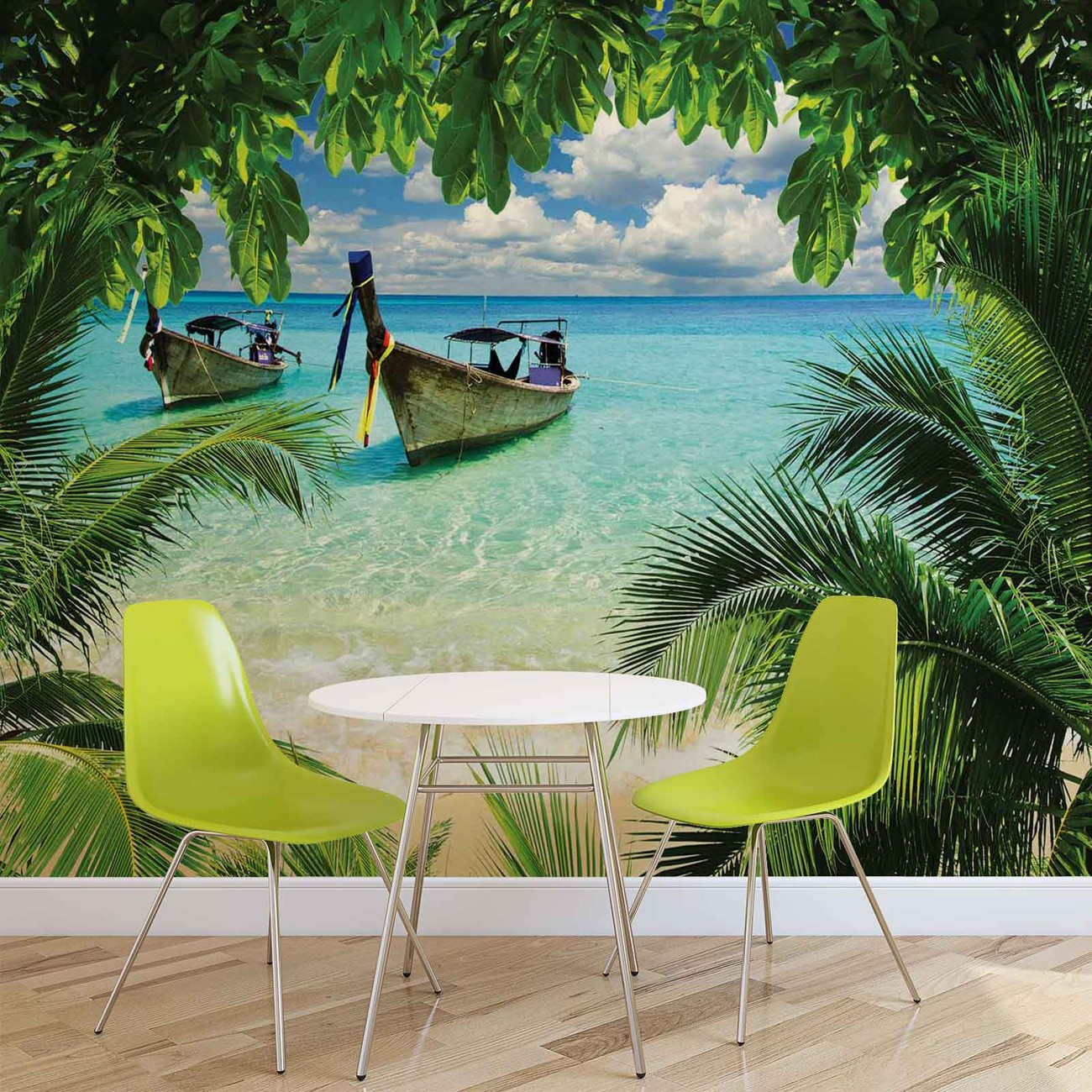 Wandposter Natur Beach Tropical Paradise Boat Wall Paper Mural Buy At
