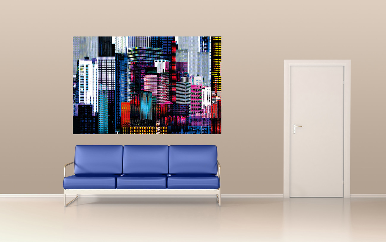 Colourful Skyscrapers Wall Mural Buy At Abposters Com