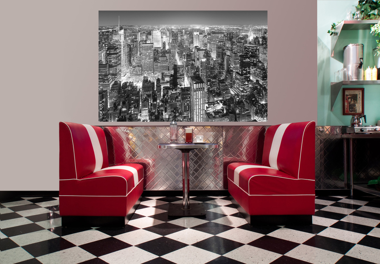 HENRI SILBERMAN - empire state building, east view Wall Mural | Buy at Abposters.com
