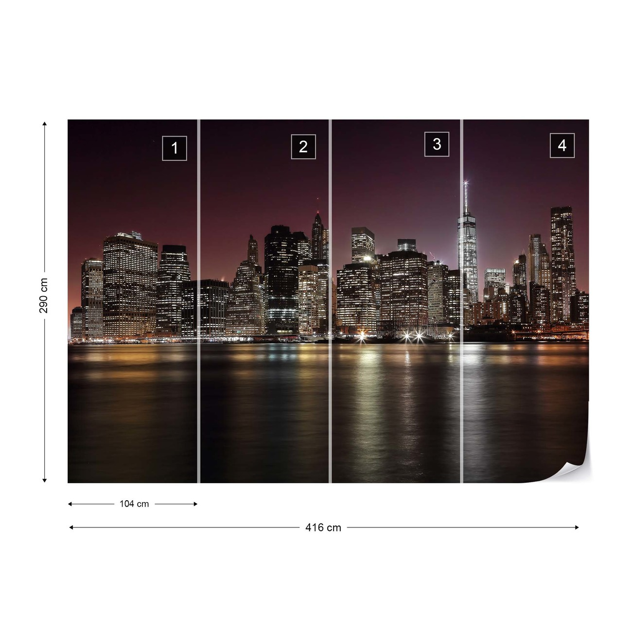 New Skyline Wandtapete Nyc Skyline Wall Paper Mural Buy At Abposters