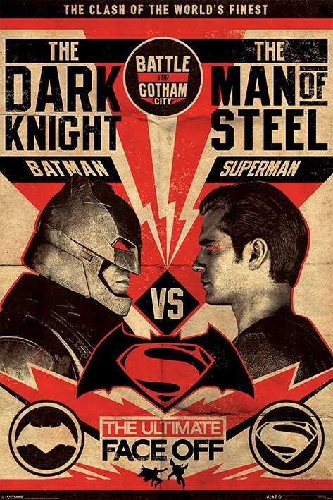 Batman v Superman Dawn of Justice - Fight Poster Poster Sold at