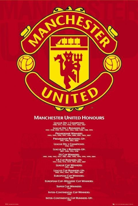 Create Your Own Iphone Wallpaper Manchester United Honours Poster Sold At Europosters