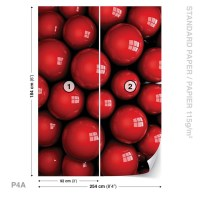 Abstract Modern Red Balls Wall Paper Mural