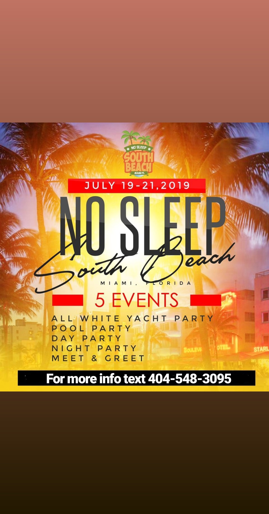 Week End South Beach No Sleep Weekend 3 Days 5 Parties Live From South Beach Miami The Biggest Summer Weekend Period Get Tickets Now Swirl