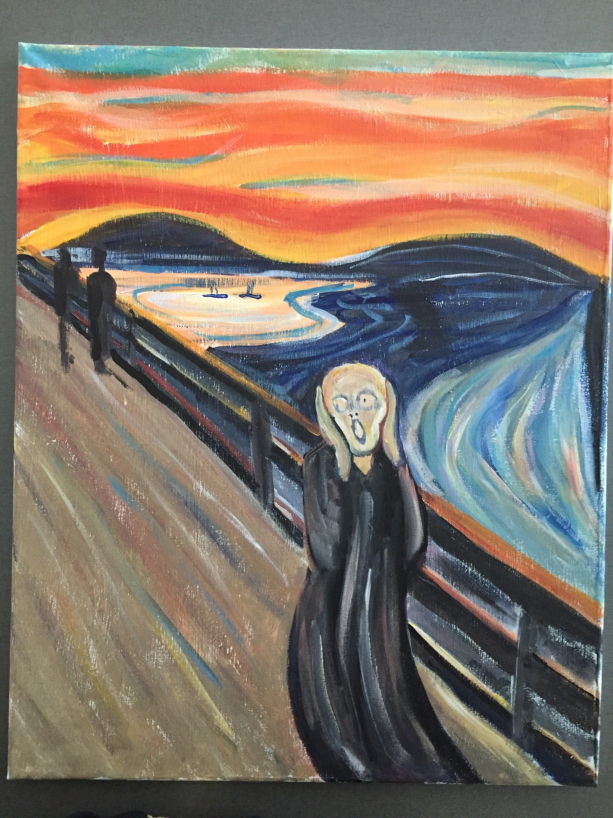 Modern Art Painting The Scream By Edvard Munch Paint Sip Night Art Painting Drink Food 100 Braid St Studios