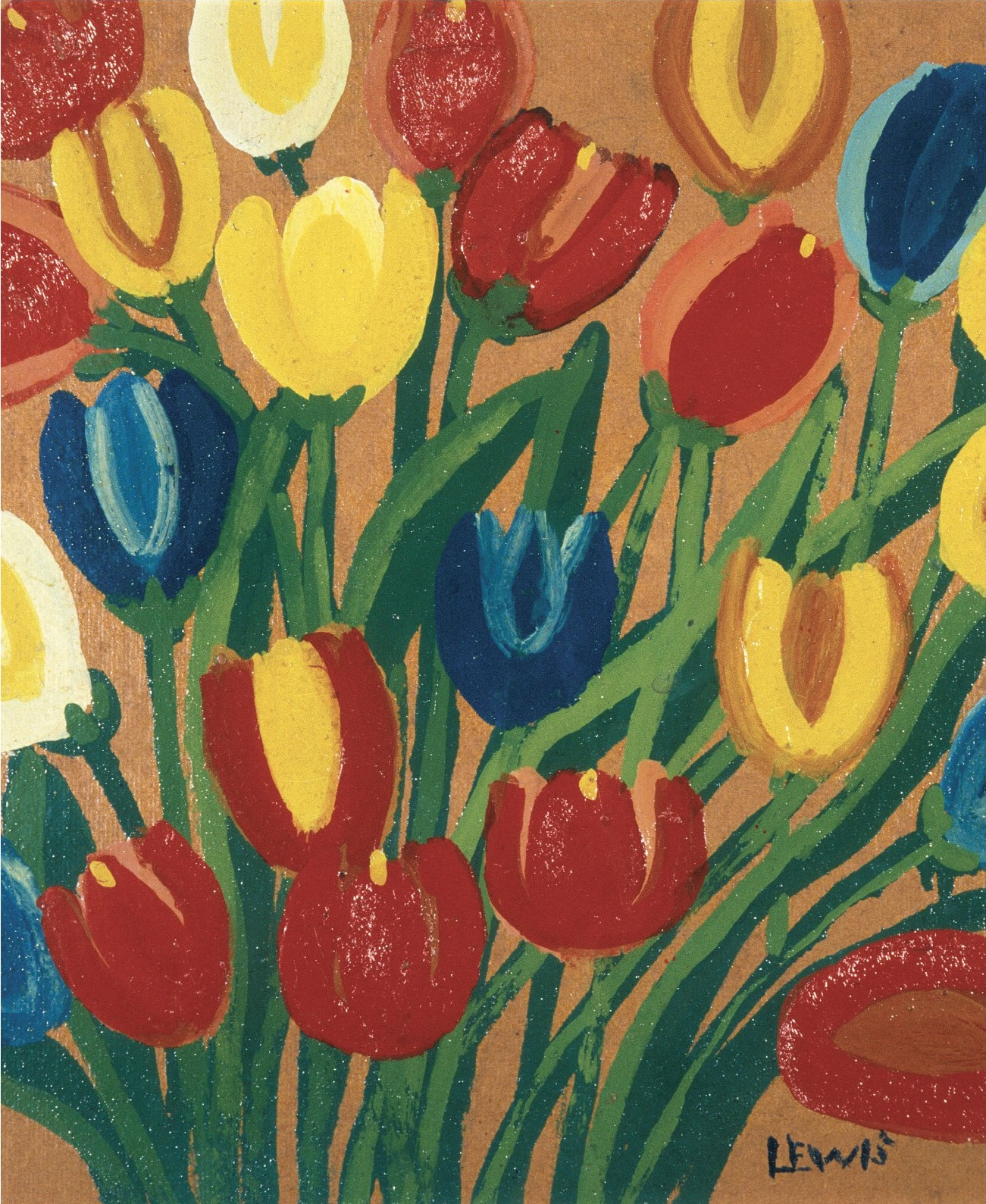 Bright Colours Painting Tulips By Maud Lewis Paint Sip Night Art Painting Drink Food 100 Braid St Studios