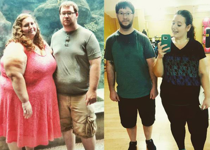 Couple Share Pics Of Incredible 20 STONE Weight Loss Transformation