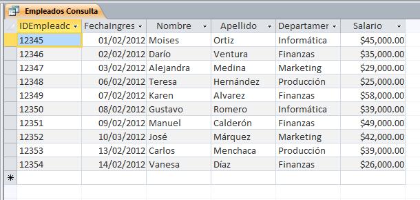 ejemplo de base de datos para trabajar en excel