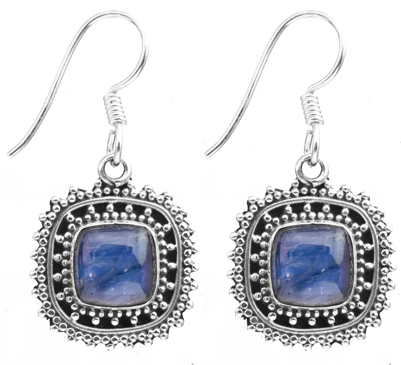 Kyanite Earrings with Granulation