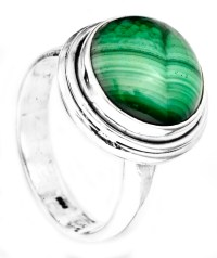 Circular Malachite Ring
