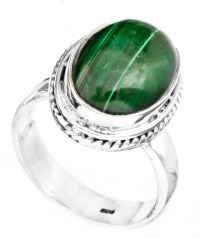 Malachite Oval Ring