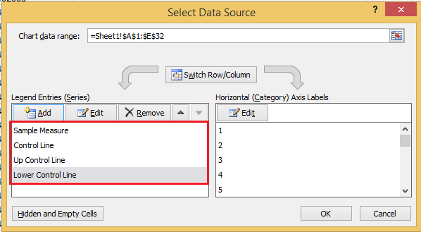 how to create spc chart in excel