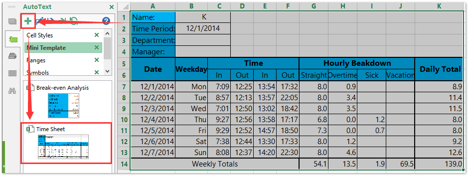 creating a timesheet in excel