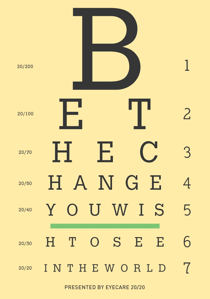 Here is the doc\u0027s favrorite quote, done in eye chart style