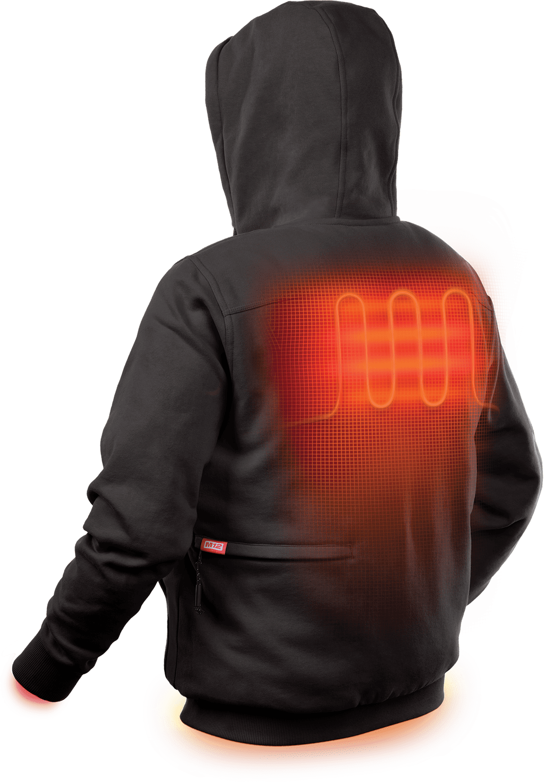 M12 Heated Jacket Heated Gear Line Distributes Heat Across Core Body Areas