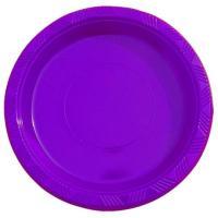 """9"""" Purple plastic plates"""