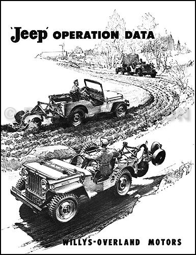 1946-1949 Jeep CJ 2A Operation Data Manual showing CJ2A accessories