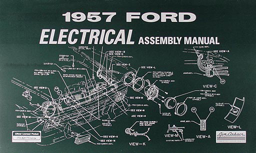 1957 Ford Electrical Assembly Manual Reprint for Car  Retractable