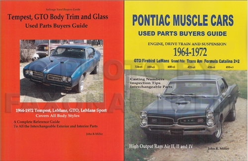 1964-1972 GTO  Tempest Parts ID/Interchange Manual 2 Book Set