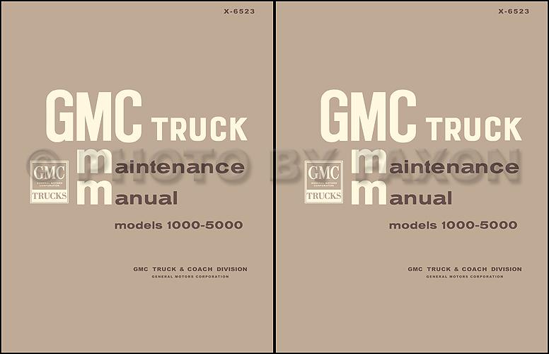 1965-1966 GMC 1000-5000 Pickup and Truck Repair Shop Manual Reprint