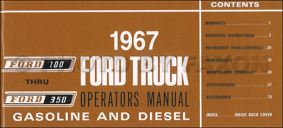 1968 Ford Pickup Truck Wiring Diagram Manual Reprint F100 F250 F350